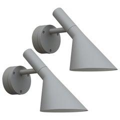 Arne Jacobsen AJ 50 Outdoor Wall Light for Louis Poulsen in Grey
