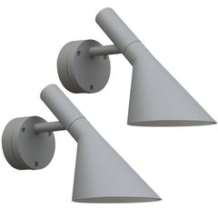 Arne Jacobsen AJ 50 Outdoor Wall Light for Louis Poulsen in Grey
