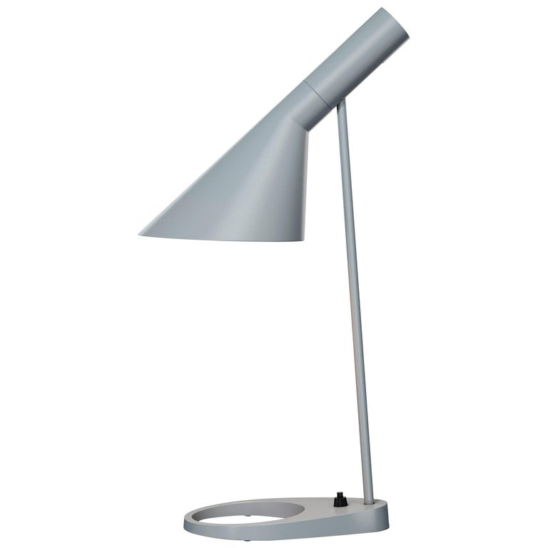 Arne Jacobsen AJ Table Lamp in Light Gray for Louis Poulsen For Sale