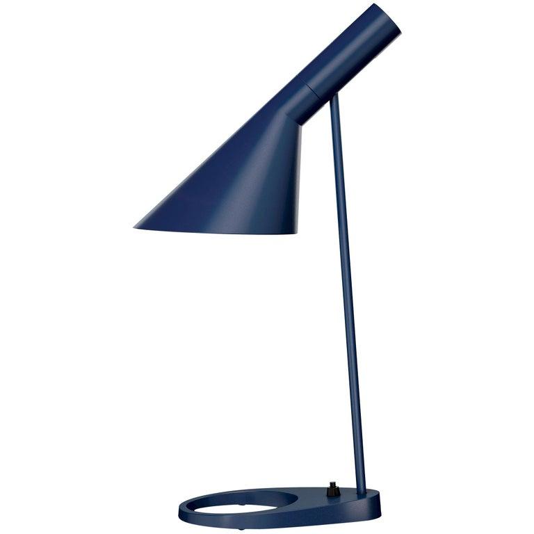 Arne Jacobsen AJ Table Lamp in Midnight Blue for Louis Poulsen For Sale