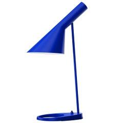 Arne Jacobsen AJ Table Lamp in Ultra Blue for Louis Poulsen