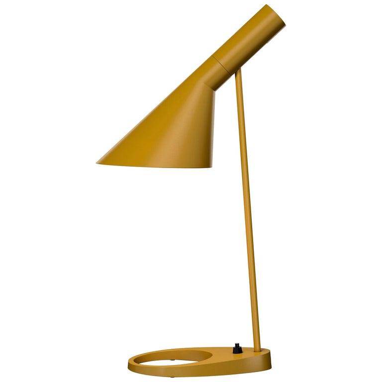 Arne Jacobsen AJ Table Lamp in Yellow for Louis Poulsen For Sale
