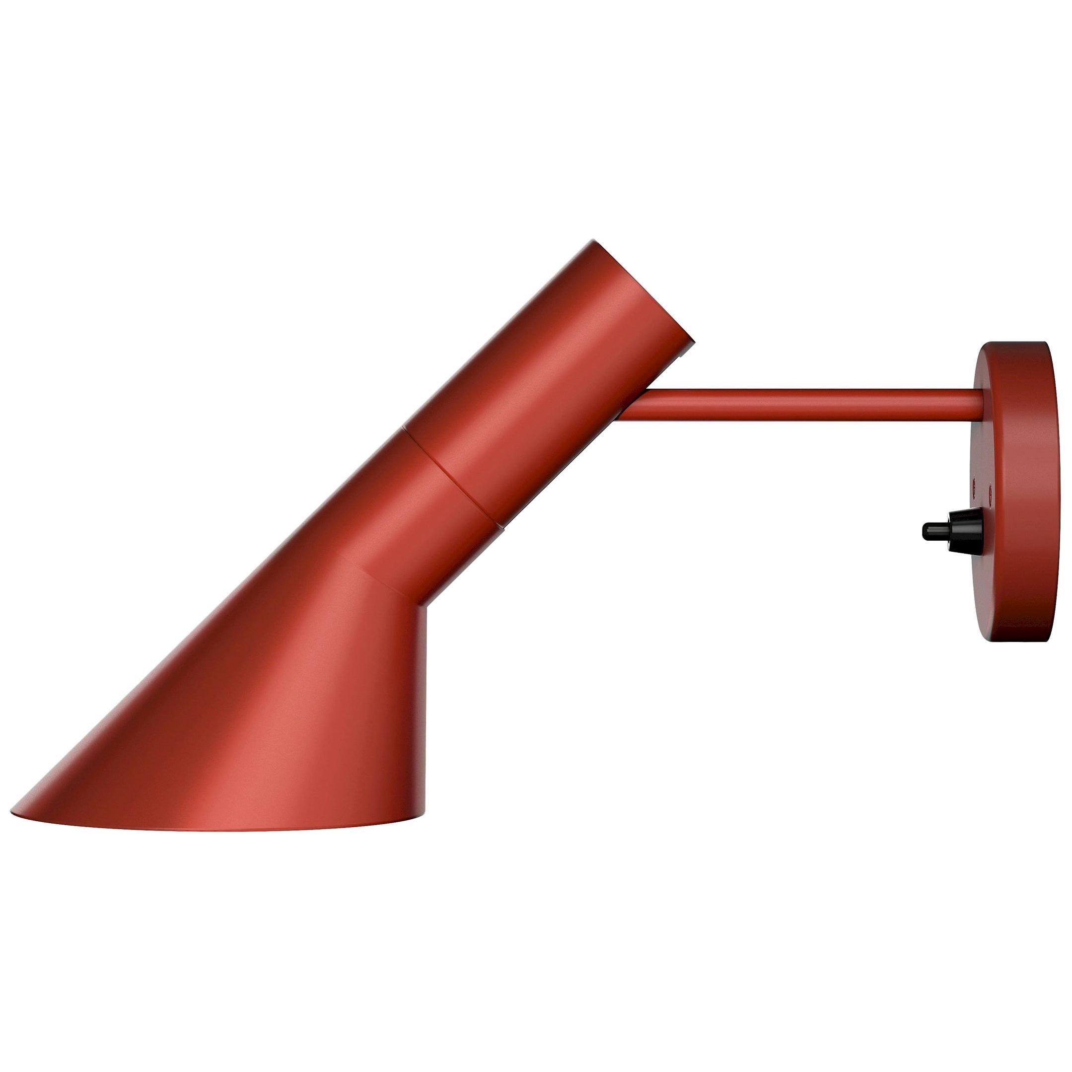 Arne Jacobsen AJ Wall Light for Louis Poulsen in Red
