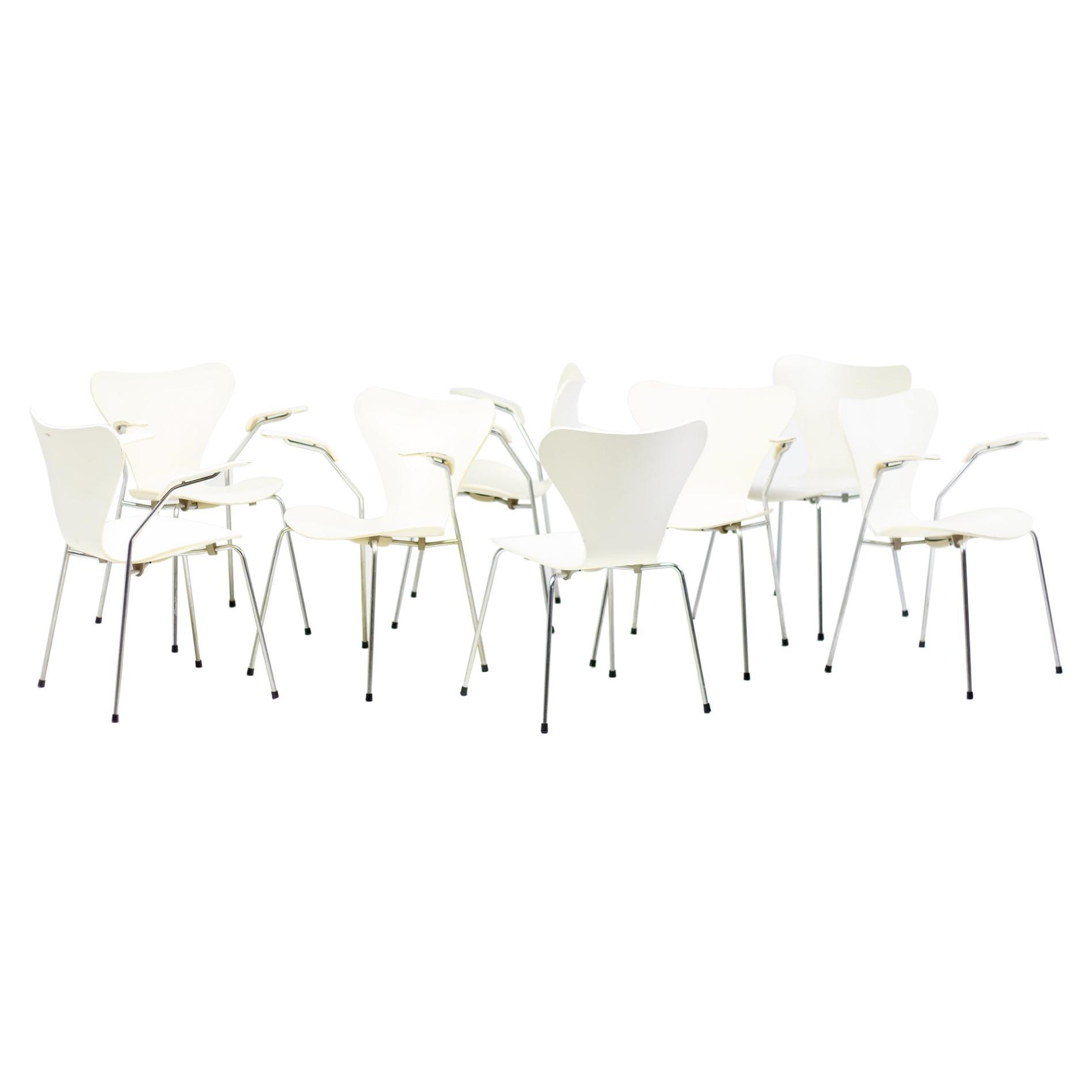 Arne Jacobsen Arm Chairs Model 3107 / Seven Series, Fritz Hansen, Denmark, 1973