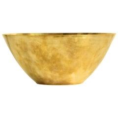 Arne Jacobsen Brass Line Bowl by Stelton Made in Denmark