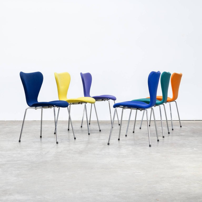 Fritz Hansen Design Stoelen.Arne Jacobsen Butterfly Chair With Upholstery For Fritz Hansen Set Of Six