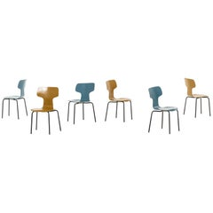 Arne Jacobsen Children T-Chairs Produced by Fritz Hansen in Denmark