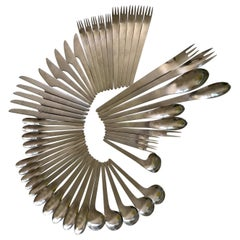 Arne Jacobsen Denmark Flatware Set for Five with Extras