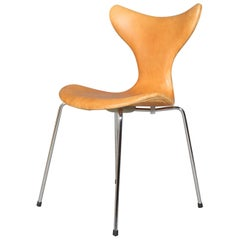 Arne Jacobsen Dining Chair, Model 'Seagull' 3108, Nature Leather
