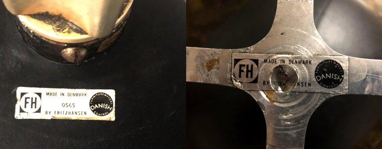 Arne Jacobsen Egg Chair & Stool for Fritz Hansen with Original Leather, Signed 5