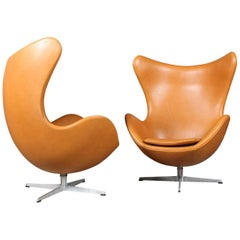 Arne Jacobsen Egg Chairs from Hotel Royal