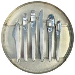 """Arne Jacobsen for Anton Michelsen """"AJ"""" Flatware for 8"""