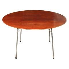 Arne Jacobsen for Fritz and Hansen teak and chrome table