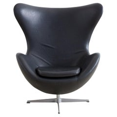 Arne Jacobsen for Fritz Hansen Black Egg Chair