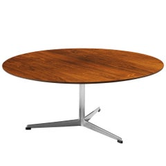 Arne Jacobsen for Fritz Hansen Coffee Table in Rosewood and Metal