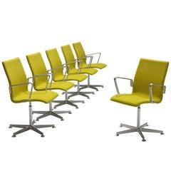 Arne Jacobsen for Fritz Hansen 'Oxford' Swivel Chairs