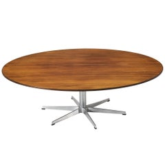 Arne Jacobsen for Fritz Hansen Round Coffee Table in Rosewood