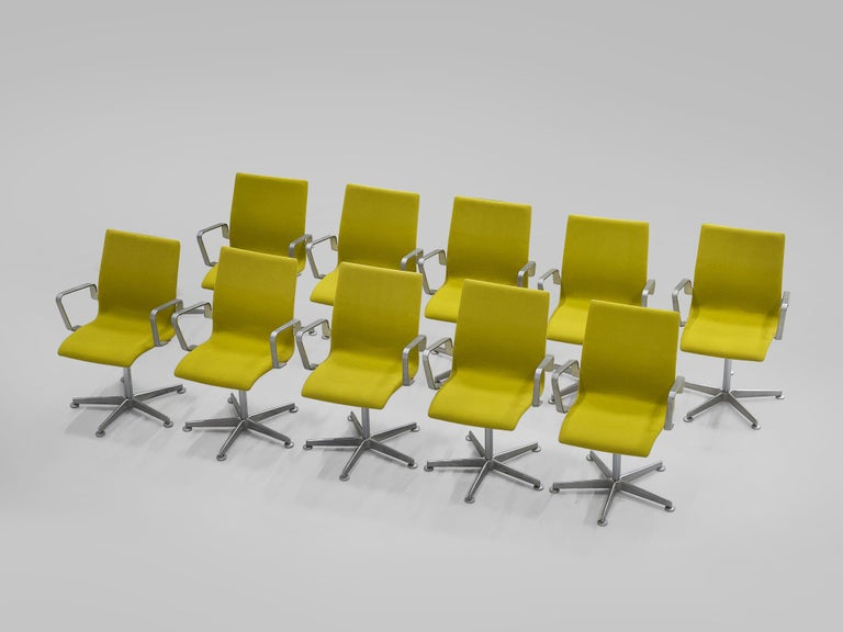 Scandinavian Modern Arne Jacobsen for Fritz Hansen Set of 'Oxford' Chairs For Sale