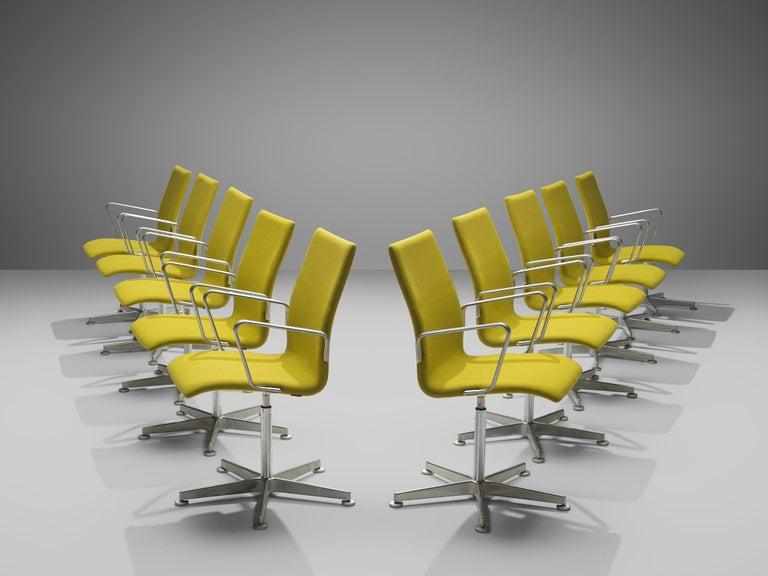 Danish Arne Jacobsen for Fritz Hansen Set of 'Oxford' Chairs For Sale