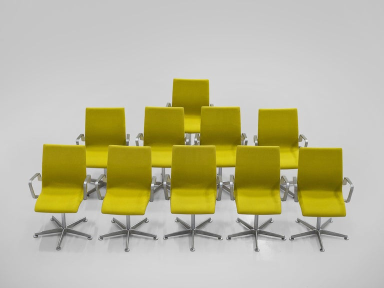 Metal Arne Jacobsen for Fritz Hansen Set of 'Oxford' Chairs For Sale