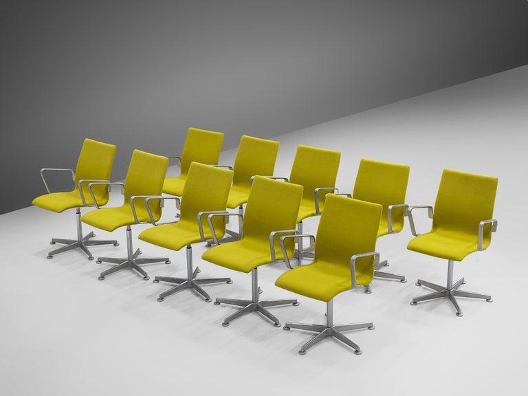 Arne Jacobsen for Fritz Hansen Set of 'Oxford' Chairs For Sale 1