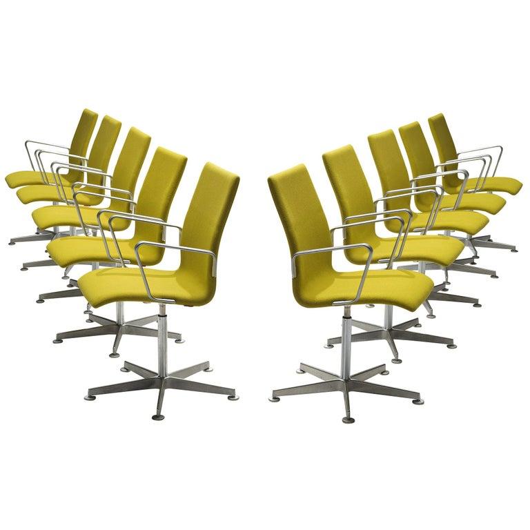 Arne Jacobsen for Fritz Hansen Set of 'Oxford' Chairs For Sale
