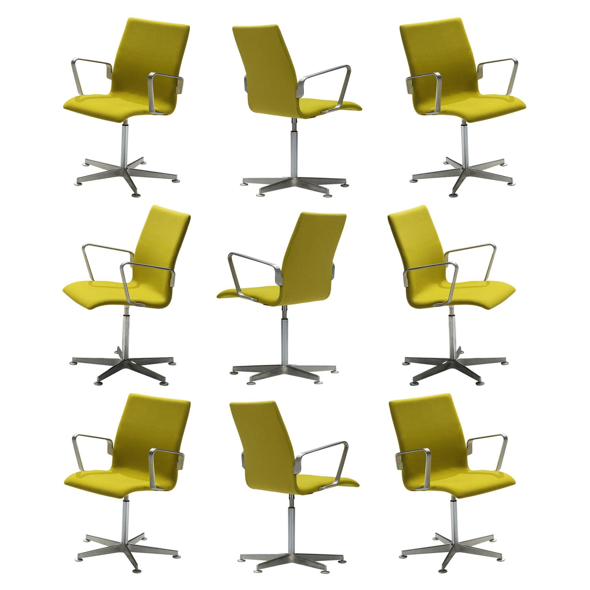 Arne Jacobsen for Fritz Hansen Set of 'Oxford' Chairs