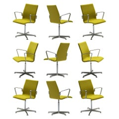 Arne Jacobsen for Fritz Hansen Set of 'Oxford' Chairs