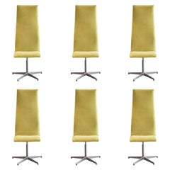 Arne Jacobsen for Fritz Hansen, Set of Six Chairs Model Oxford, circa 1960