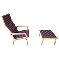 Arne Jacobsen for Fritz Hansen St. Catherines Highback Chair and Ottoman Set