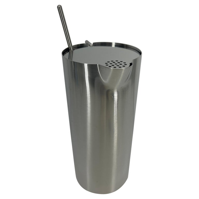 Arne Jacobsen for Stelton Mid-Century Modern Cocktail Shaker and Stir Spoon For Sale