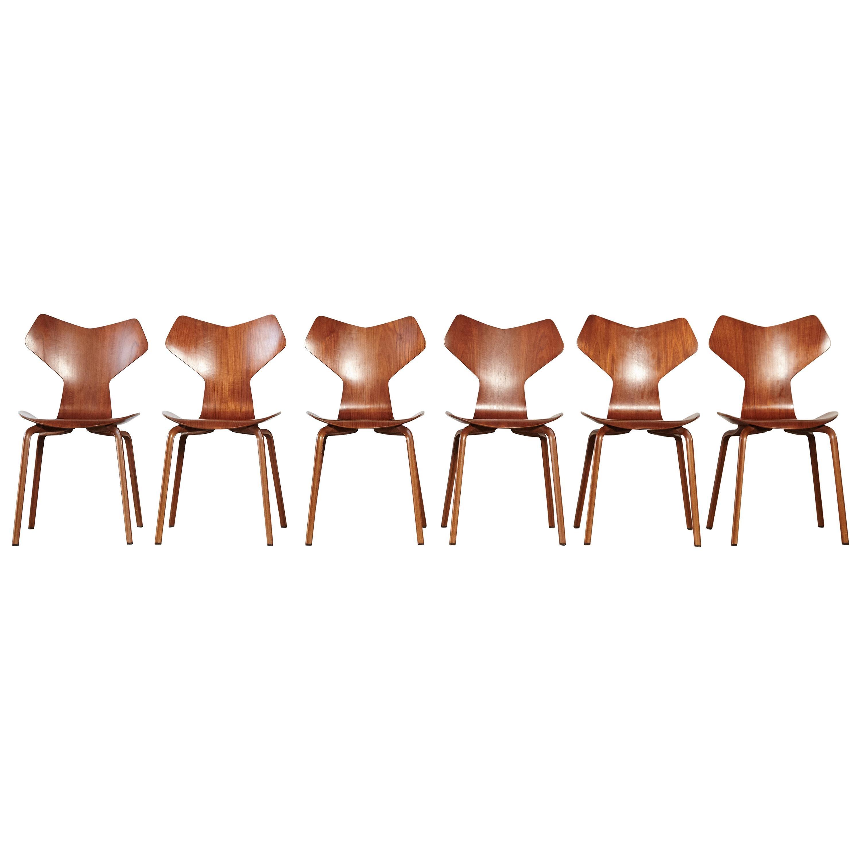 Arne Jacobsen Grand Prix Chairs, Fritz Hansen, Denmark, 1960s