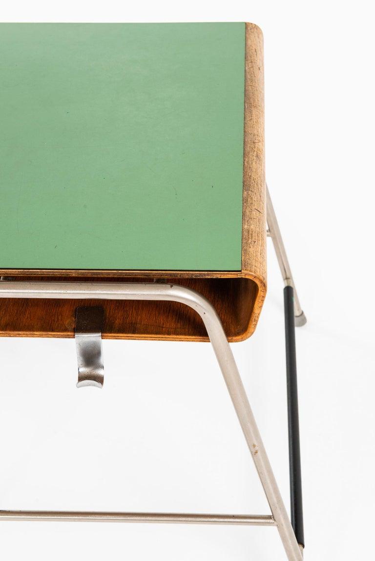 Scandinavian Modern Arne Jacobsen Munkegaard School Desk Produced by Fritz Hansen in Denmark For Sale
