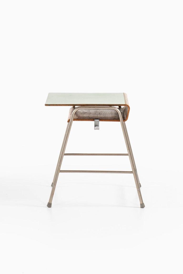 Danish Arne Jacobsen Munkegaard School Desk Produced by Fritz Hansen in Denmark For Sale