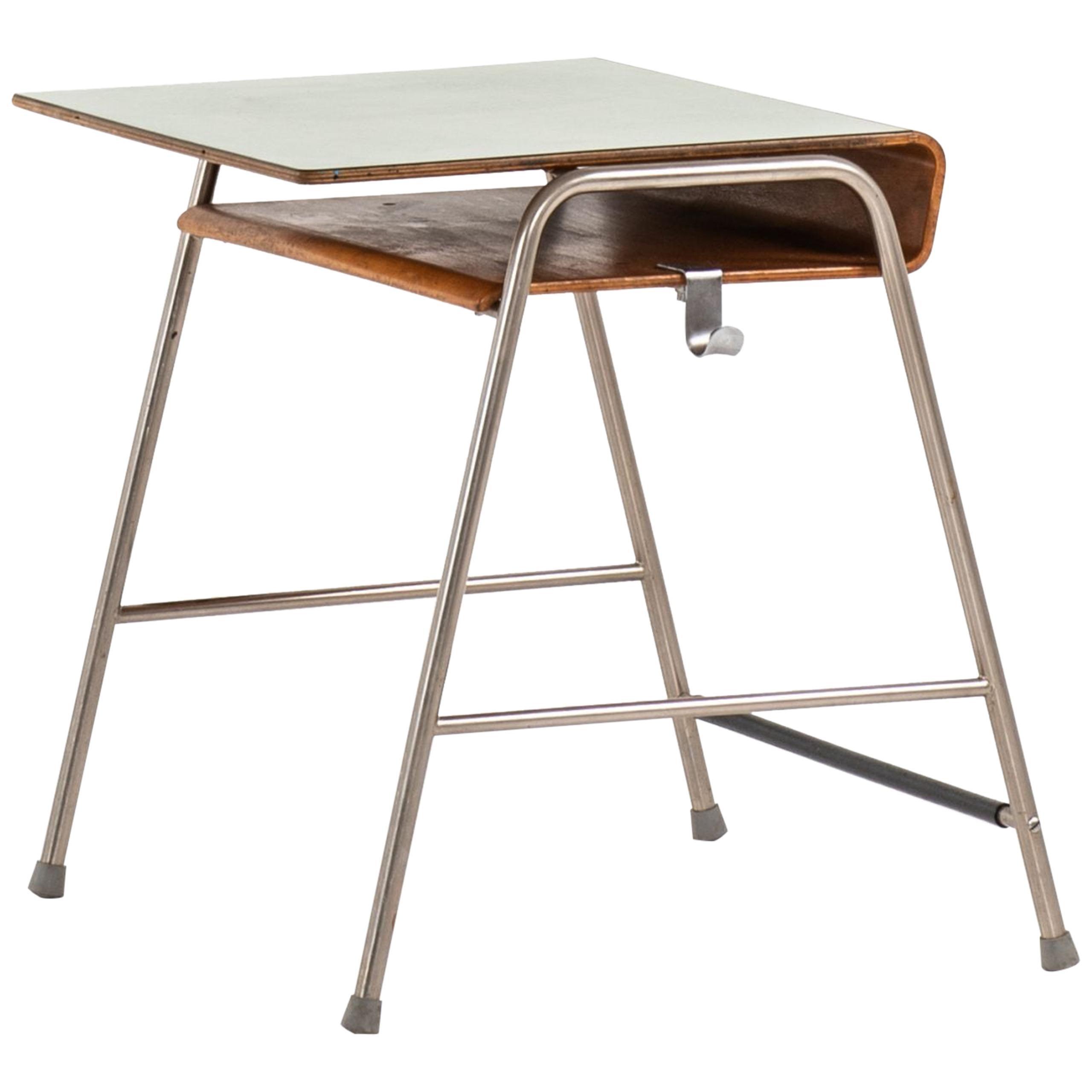 Arne Jacobsen Munkegaard School Desk Produced by Fritz Hansen in Denmark