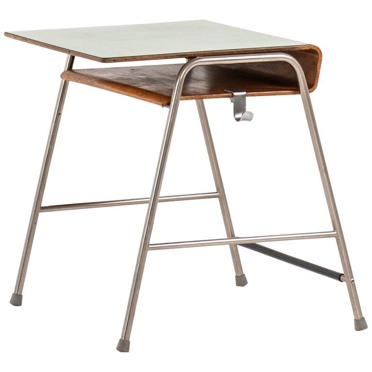 Arne Jacobsen Munkegaard School Desk Produced by Fritz Hansen in Denmark For Sale