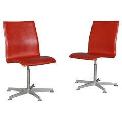 Arne Jacobsen Oxford Chair, Fritz Hansen, 2007, Red Label