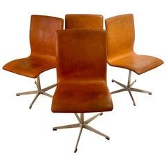 Arne Jacobsen Oxford Chairs by Fritz Hansen Denmark, Set of Six