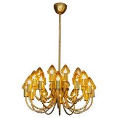 Arne Jacobsen : Pair of Scale Brass Chandelier