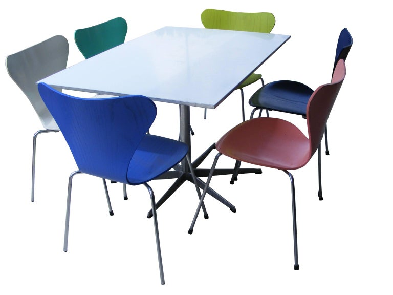 Mid-Century Modern Arne Jacobsen Piet Hein Dining Table Series Six  For Sale