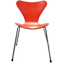 Arne Jacobsen Red Series 7 Chair for Fritz Hansen, Denmark, 1996