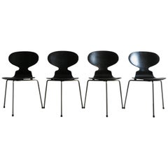 Arne Jacobsen Scandinavian Dining Chairs Model Ant for Fritz Hansen, 1950s
