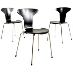 "Arne Jacobsen, Set of 3 Chairs ""3105"", First Edition, Denmark, 1955"