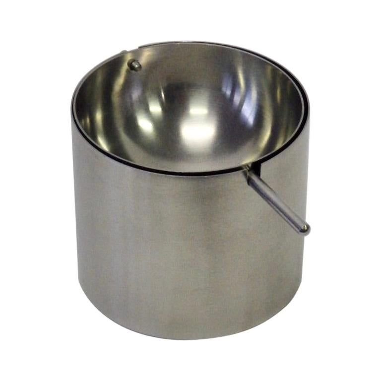 Arne Jacobsen Stainless Steel Cylinda Series Ash Tray for Stelton