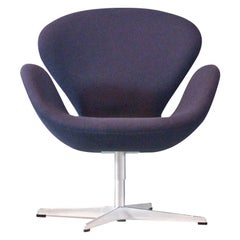 Arne Jacobsen Swan Chairs Fabric Fritz Hansen Denmark Swivel Easy Chair