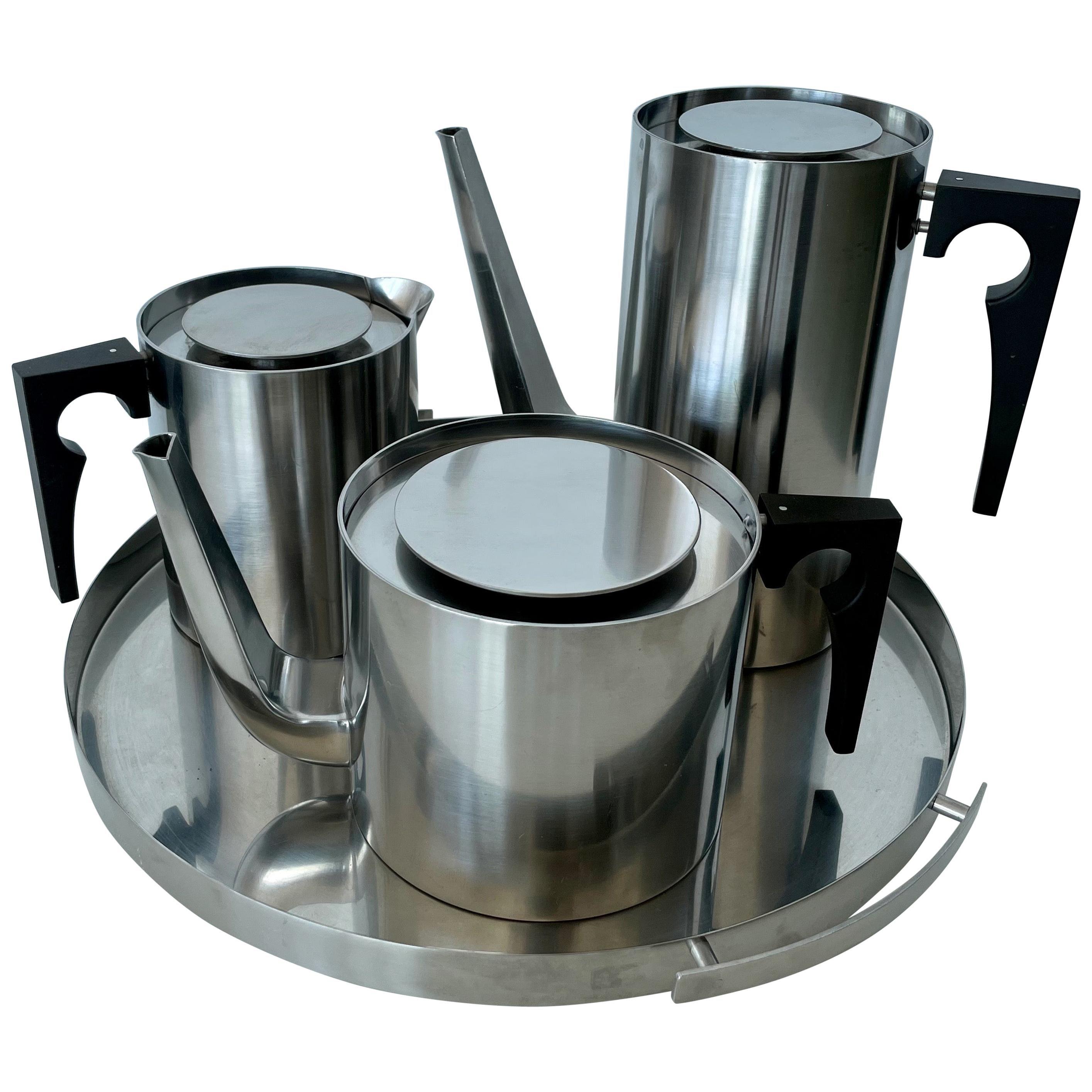 Arne Jacobsen Tea / Coffee Service for Stelton