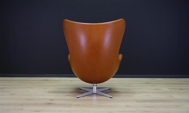 Arne Jacobsen the Egg Chair Elegance Leather Retro For Sale 4