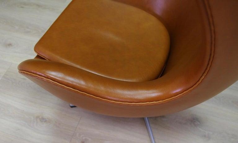 Arne Jacobsen the Egg Chair Elegance Leather Retro For Sale 5