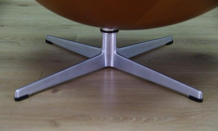 Arne Jacobsen the Egg Chair Elegance Leather Retro For Sale 7