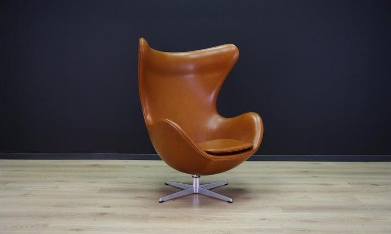 Mid-Century Modern Arne Jacobsen the Egg Chair Elegance Leather Retro For Sale